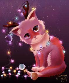 christmas deer by kinoraya