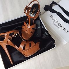 """We will always have a soft spot for the #SaintLaurent Tribute Sandal!"""