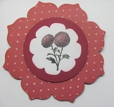 Lynn's Primrose Petals card: Springtime Hello, sanded Core'dinations card stock embossed with the Perfect Polka Dots folder, Floral Frames framelits. All supplies from Stampin' Up!