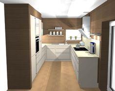 U küchen  kleine Küche in U-Form mit Halbinsel zum Wohnzimmer | Küche ...