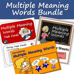 Multiple Meaning Words Bundle by Classroom in the Middle | TpT
