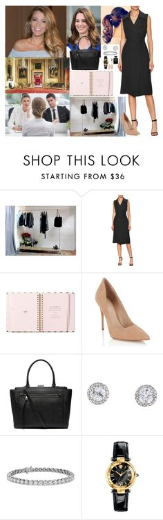 """Being Interviewed for a Job by Kate Middleton"" by princessofeurope ❤ liked on Polyvore featuring Urban Grain, Alexis, Kate Spade, Lipsy, Witchery, Blue Nile, Versace and Rimmel"