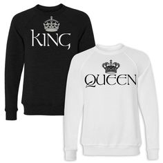 King and Queen Couple Shirts #coupleshirts #matchingcouples #couples
