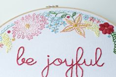 New  Custom Embroidered Hoop Art  Made to Order by FaSewLaStitches, $135.00