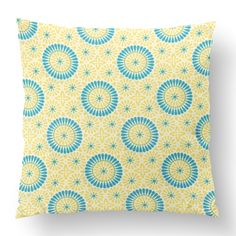"18"" Custom Outdoor Circle Daisy Cushion  Circle Daisy Item# CC-OD0002 100% Polyester Cover 100% Polyester Fill Yellow Custom Outdoor Cushions, Fill, Daisy, Shapes, Throw Pillows, Texture, Yellow, Cover, Prints"