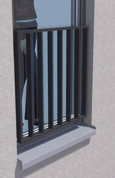Outdoor railing / metal / with bars / for windows IMB Geländer Vierkantsystem IMB Vertriebs GmbH - Luxery Houses Balcony Railing Design, Window Grill Design, French Balcony, French Doors Patio, Modern Windows And Doors, Indoor Railing, Balcony Grill, Balcony Doors, Staircase Railings