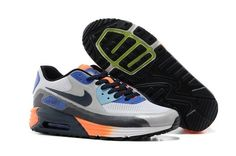 MO837: Nike Air Max Lunar90 C3.0 - Heren Sportschoenen - Grijs/Blauw/Oranje Online