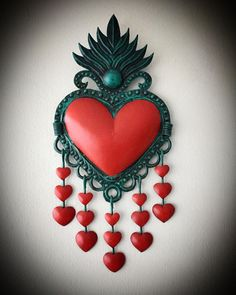 Posts tagged as Clay Projects, Projects To Try, Crafts To Do, Arts And Crafts, Heart Crafts, Heart Wall, Heart Ornament, Religious Icons, Mexican Folk Art