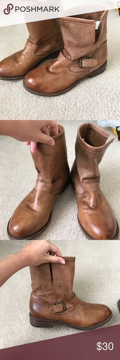 Nine West booties Nine West brown booties. Worn multiple times but still in good condition Nine West Shoes Ankle Boots & Booties