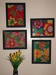 Imagem relacionada Diy Canvas, Canvas Wall Art, Wall Art Prints, Decoupage Vintage, Pichwai Paintings, Diy And Crafts, Arts And Crafts, Floral Artwork, Diy Cardboard