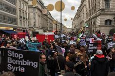 stop bombing syria march london - Google Search