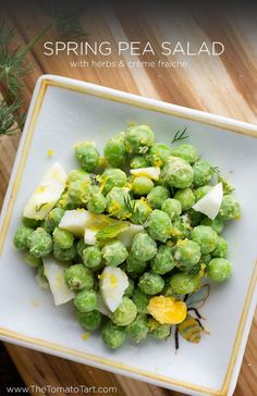 pea salad with crème fraiche and herbs herbed spring pea salad with ...