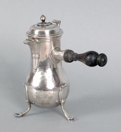 French silver chocolate pot, ca. 1765, bearing the touch of Guillaume Pigeron, Paris. (Sold at Pook & Pook for $900)