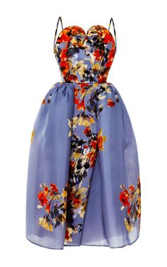 Floral Swirl Bodice Dress by DELPOZO - Won't you be flaunt fabulous for that winter cruise!