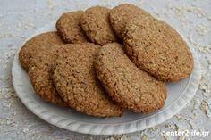 Μπισκότα ολικής αλέσεως με βρώμη -τύπου Digestive- Wholegrain oatmeal cookies http://www.enter2life.gr/13689-mpiskota-olikis-aleseos-me-vromi-typou-digestive.html