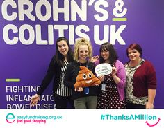 """""""Here at @CrohnsColitisUK we LOVE our amazing fundraisers! ❤️ #ThanksAMillion @easyuk """" #Fundraising #Giving #Charity"""
