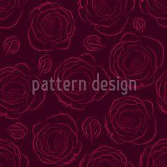 Her Beloved Roses Pattern Design Vector Pattern, Pattern Design, Round Tablecloth, Rose Design, Surface Design, Roses, Make It Yourself, Fun, Beautiful
