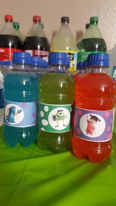 Monsters Inc drink labels