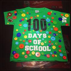 100 Days of School Shirt 100 Days Of School Project Kindergartens, 100 Day Of School Project, School Projects, School Ideas, Preschool Shirts, 100th Day, Fun Crafts, The 100, Education