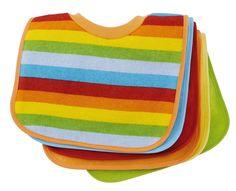 BIECO Paquete de 6 baberos babero bebé forrada con plástico, multicolor: Amazon.es: Bebé