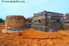 Africa | A Gurunsi household. Tiebele, Burkina Faso | © Dan Heller