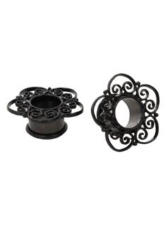 Steel Medieval Filigree Eyelet Plug 2 Pack http://www.hottopic.com/hottopic/Accessories/BodyJewelry/Plugs/Steel+Medieval+Filigree+Eyelet+Plug+2+Pack-10097933.jsp
