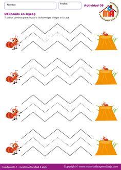 April Preschool, Preschool Writing, Preschool Learning Activities, Educational Activities, Printable Preschool Worksheets, Fun Worksheets For Kids, Tracing Worksheets, Autism Learning, Kids Learning