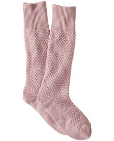 Our curl-up cozy knee high woollies are crafted in Europe of super quality yarns in a gorgeous textured knit pattern. <br>• Superwashed wool/polyamide yarns<br>• Textured sailor stitch knit pattern<br>• Knee highs<br>• Certified by Oeko-Tex Standard 100<br>• Machine wash<br>• Imported<br><br>S/M: fits shoe sizes 6-8<br>L/XL: fits shoe sizes 8-11
