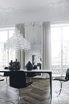 Interiors of a Paris apartment