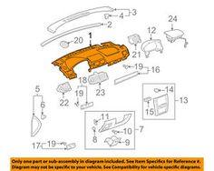 a chevrolet gm oem 05 08 cobalt instrument panel dash upper trim panel 15274558