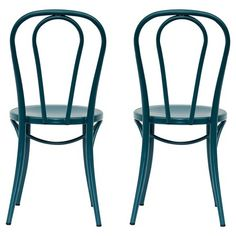 Emery Metal Bistro Chair - Sarcelle Teal (Set of 2) - Threshold™ : Target