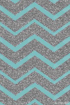 teal glitter chevron art print by natalie sales iphone wallpaper