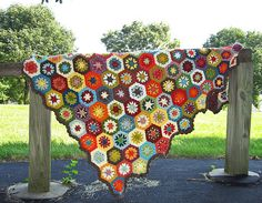 Beautiful! I bet this would be a great pattern for using up scrap yarn.