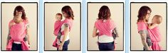 Kangaroo Carry  {from Babywearing 102: Wrapping 360 Project}   ***short wrap carry