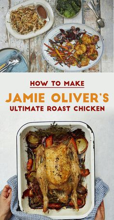 Mouthwatering tips for the best roast ever. Jamie Oliver writes exclusively for . Roast Chicken Video, Roast Chicken Dinner, Perfect Roast Chicken, Roast Chicken And Gravy, Roast Chicken Recipes, Roast Dinner, Sunday Roast, Food Network Recipes, Cooking Recipes