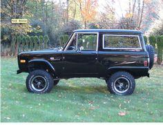 Restored Classic Ford Bronco - Black on Black LUBR build