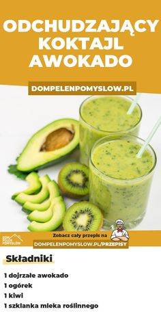 On nie odchudza tylko jest zdrowy! Smoothie Diet, Healthy Smoothies, Healthy Drinks, Good Healthy Recipes, Raw Food Recipes, Lidl, Detox Recipes, Easy Cooking, Diy Food