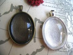 10 Oval Trays with Oval Glass Cabocons22 x by CandytilesStudio, $10.00