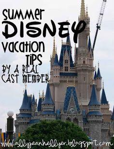 Summer Disney Vacation Tips from a Walt Disney World Cast Member