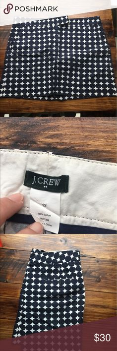 J Crew Skirt J Crew Skirt. Size 12. EEUC. worn once. Navy polka dots!!! J. Crew Skirts