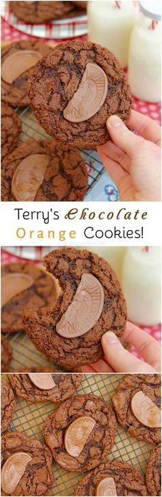 Terry's Chocolate Orange Cookies! Delicious Moist & Crunchy Cookies full to the brim with chunks of Terry's Chocolate Orange – heavenly.