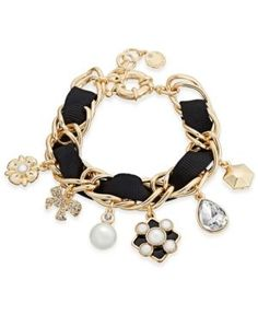 Charter Club Gold-Tone Imitation Pearl Charm Bracelet, Only at Macy's - Gold