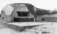 A bunker on Utah Beach, not far from the modern day Leclerc Monument