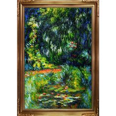 La Pastiche Claude Monet 'Water Lily' Pond Hand Painted Oil Reproduction