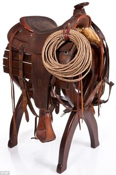 custom-made saddle from the 1960s