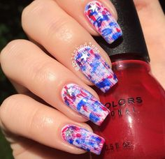 Nailpolis Museum of Nail Art | Independence Day Distressed Nails by PolishedJess