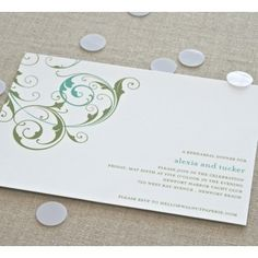 Party invitations: back side with details