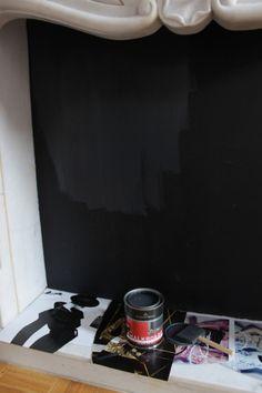 DIY Chalkboard Fire place