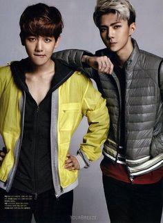 Baekhyun and Sehun Wow Handsome