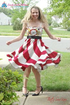 The Peppermint Swirl Dress Ladies Addon by CandyCastlePatterns
